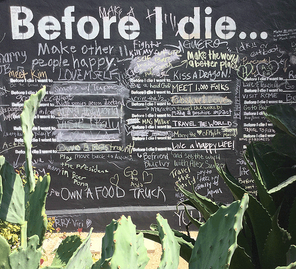 Before I Die Wall in Austin by Candy Chang
