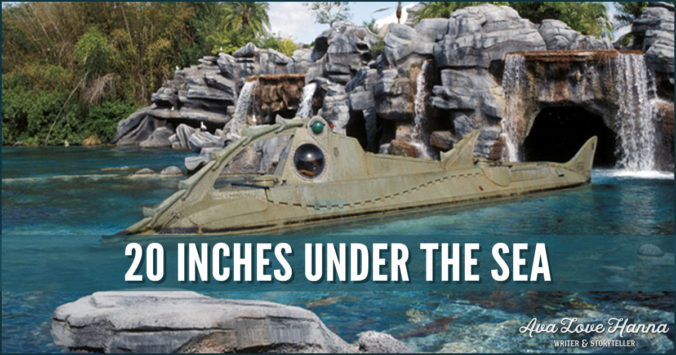 20 inches under the sea
