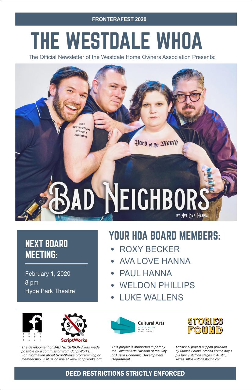 Bad Neighbors by Ava Love Hanna - FronteraFest 2020 - Best of Week
